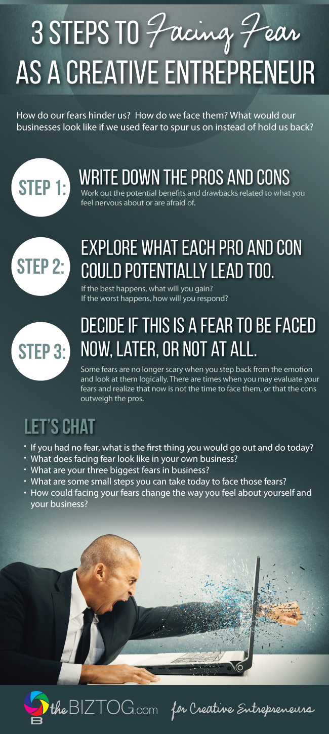 3 Steps to Overcoming Fear as a Creative Entrepreneur Infographic